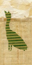 chick in papyrus, Thai garden, crop